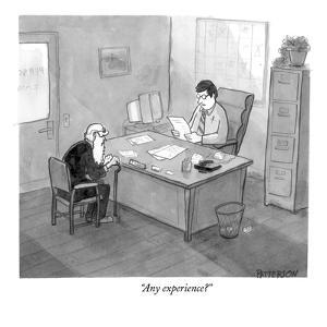 """Any experience?"" - New Yorker Cartoon by Jason Patterson"