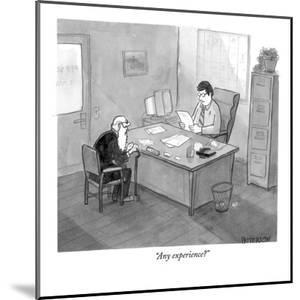 """Any experience?"" - New Yorker Cartoon by Jason Patterson"