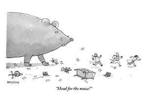 """Head for the maze!"" - New Yorker Cartoon by Jason Patterson"