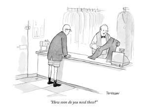 """How soon do you need these?"" - New Yorker Cartoon by Jason Patterson"