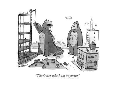 """That's not who I am anymore."" - New Yorker Cartoon"