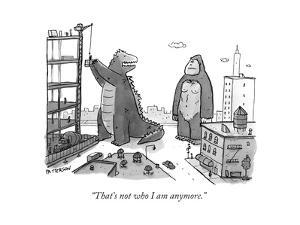 """That's not who I am anymore."" - New Yorker Cartoon by Jason Patterson"
