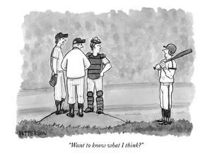 """Want to know what I think?"" - New Yorker Cartoon by Jason Patterson"