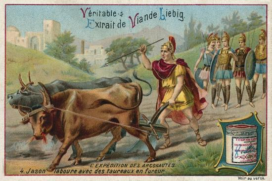 Jason Ploughing with the Fire-Breathing Oxen--Giclee Print