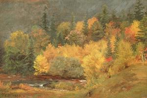Autumn by the Brook, 1855 by Jasper Francis Cropsey