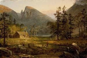 Pioneer's Home, Eagle Cliff, White Mountains,1859 by Jasper Francis Cropsey
