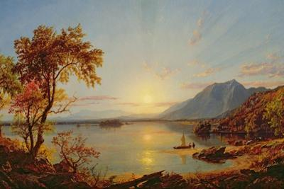 Sunset, Lake George, New York, 1867 by Jasper Francis Cropsey