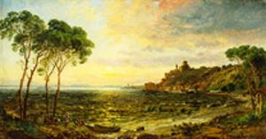 Sunset over Lake Thrasemine by Jasper Francis Cropsey
