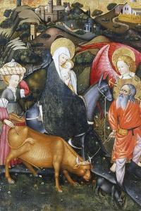 Flight into Egypt, Altarpiece from Verdu, 1432-34 by Jaume Ferrer II