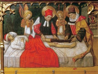 SS. Cosmas and Damian graft the leg of an Ethiopian man onto the stump of deacon Justinian