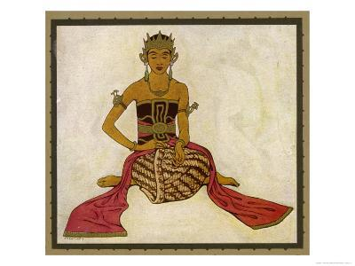 Javanese Dancer in a Seated Pose-Tyra Kleen-Giclee Print