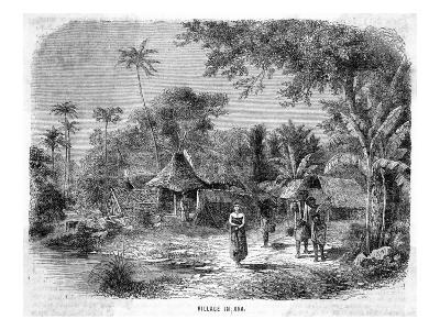 Javanese Village Scene--Giclee Print
