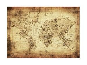 Ancient Map Of The World by javarman