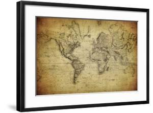 Vintage Map of the World, 1814 by javarman