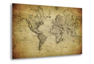 Vintage Map of the World, 1814