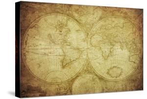 Vintage Map Of The World by javarman