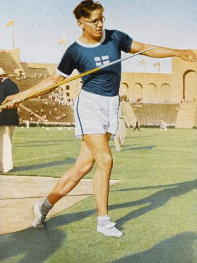 Javelin Won by Jarvinen (Finland) 72.71M--Photographic Print