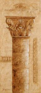 Sepia Column Study III by Javier Fuentes