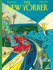 The New Yorker Cover - August 9, 1993 by Javier Mariscal