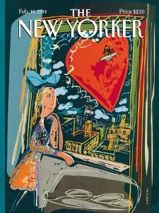 The New Yorker Cover - February 14, 1994 by Javier Mariscal