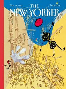 The New Yorker Cover - November 15, 1993 by Javier Mariscal