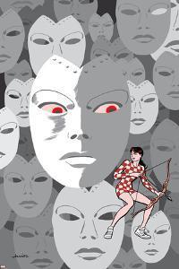 Hawkeye Annual #1 Cover: Madame Masque, Bishop, Kate by Javier Pulido