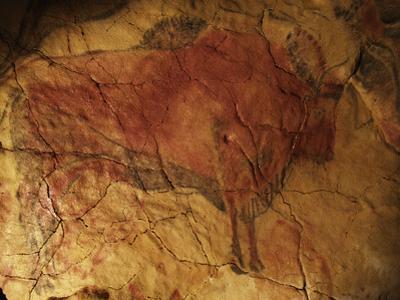 Altamira Cave Painting of a Bison by Javier Trueba