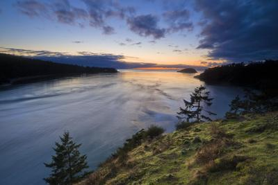 A Clearing Winter Storm Over The Western Waters Of Deception Pass State Park In Washington State