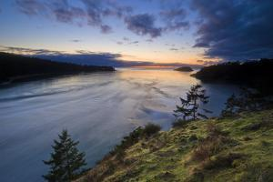 A Clearing Winter Storm Over The Western Waters Of Deception Pass State Park In Washington State by Jay Goodrich