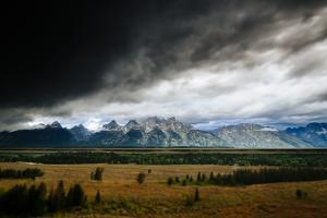 A Severe Thunderstorm Moves Up The Jackson Hole Valley Of Grand Teton National Park by Jay Goodrich