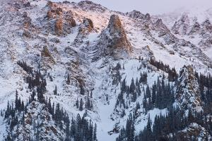 A Winter Storm Break Yields Color Over The Sky Of The Ten-Mile Range Colorado by Jay Goodrich