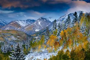 An Autumn Weather System Breaks Up At Sunset Over The Valley On McClure Pass Near Carbondale CO by Jay Goodrich