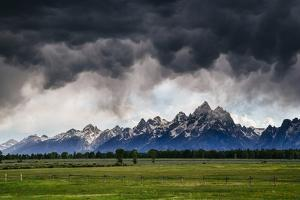 Blowing Clouds, Thunderstorm And Wind At Sunset In Grand Teton National Park Wyoming by Jay Goodrich