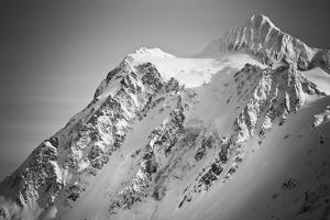Ski Tracks And Clearing On The Shuksan Arm Near Mount Baker Ski Area Washington by Jay Goodrich
