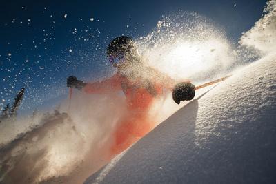 Skiing Blue Bird Powder In The Teton Backcountry Near Jackson Hole Mountain Resort