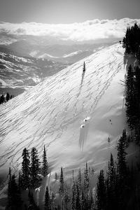 Skiing Powder 8S For An Upcoming Competition At JHMR by Jay Goodrich
