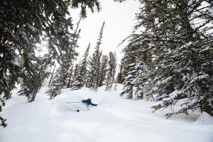 Skiing Spring Powder In The Backcountry Near Jackson Hole Mountain Resort by Jay Goodrich