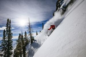 Skiing The Teton Backcountry Powder After A Winter Storm Clears Near Jackson Hole Mountain Resort by Jay Goodrich
