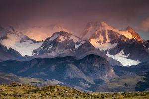 Sunrise over the Peaks Near Mount Fitz Roy in Los Glacieres National Park, Argentina by Jay Goodrich