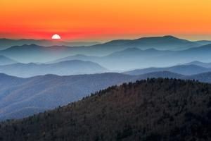 The Great Smoky Mountains At Sunset From Within Great Smoky Mountains National Park by Jay Goodrich