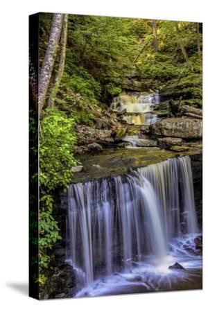 Pennsylvania, Benton, Ricketts Glen SP. Delaware Falls Cascade