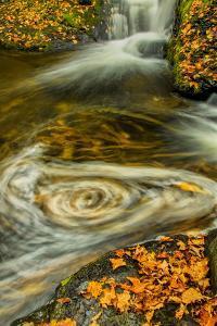 Pennsylvania, Delaware Watergap Nra. Waterfall and Swirling Pool by Jay O'brien