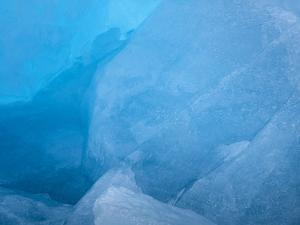Arctic Ocean, Norway, Svalbard. Close-Up of Glacier Ice by Jaynes Gallery