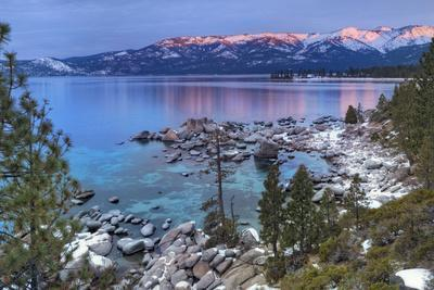 California, Lake Tahoe. Lake Overview at Sunrise