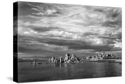 California, Mono Lake. Black and White of Tufa Towers