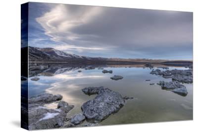 California, Mono Lake. Tufa Formations in Lake