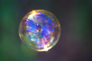 California. Reflection on Floating Bubble by Jaynes Gallery
