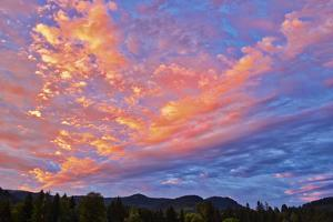 Canada, British Columbia, Fruitvale. Clouds at sunrise. by Jaynes Gallery