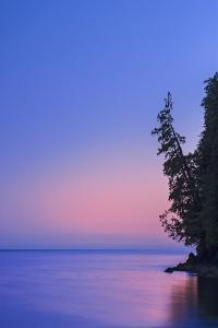 Canada, British Columbia, Port Renfrew. Strait of Juan de Fuca at dusk. by Jaynes Gallery