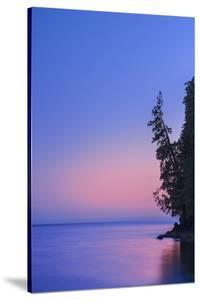 Canada, British Columbia, Port Renfrew. Strait of Juan de Fuca at dusk. by Jaynes Gallery